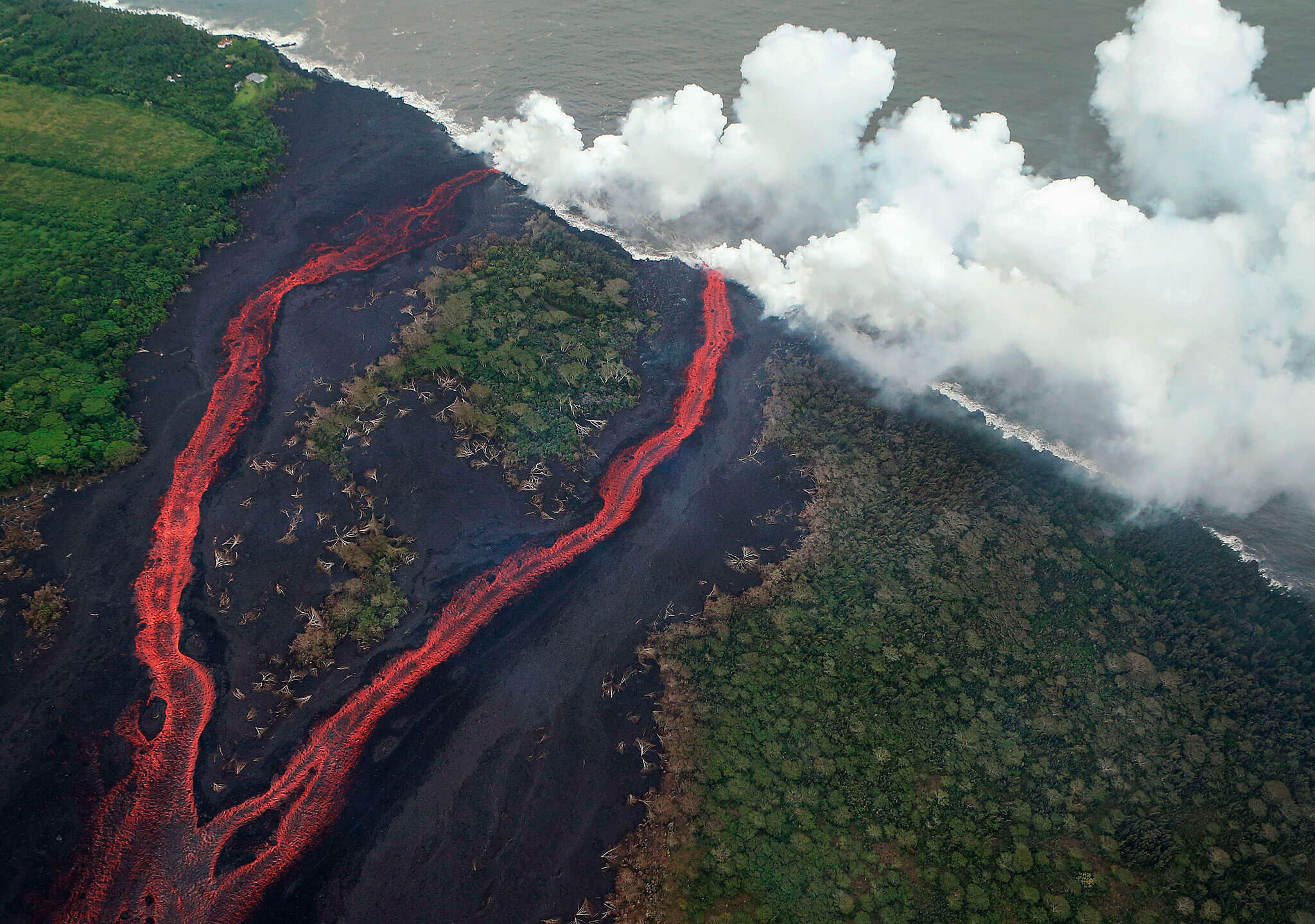 El Kilauea, en su fase más violenta