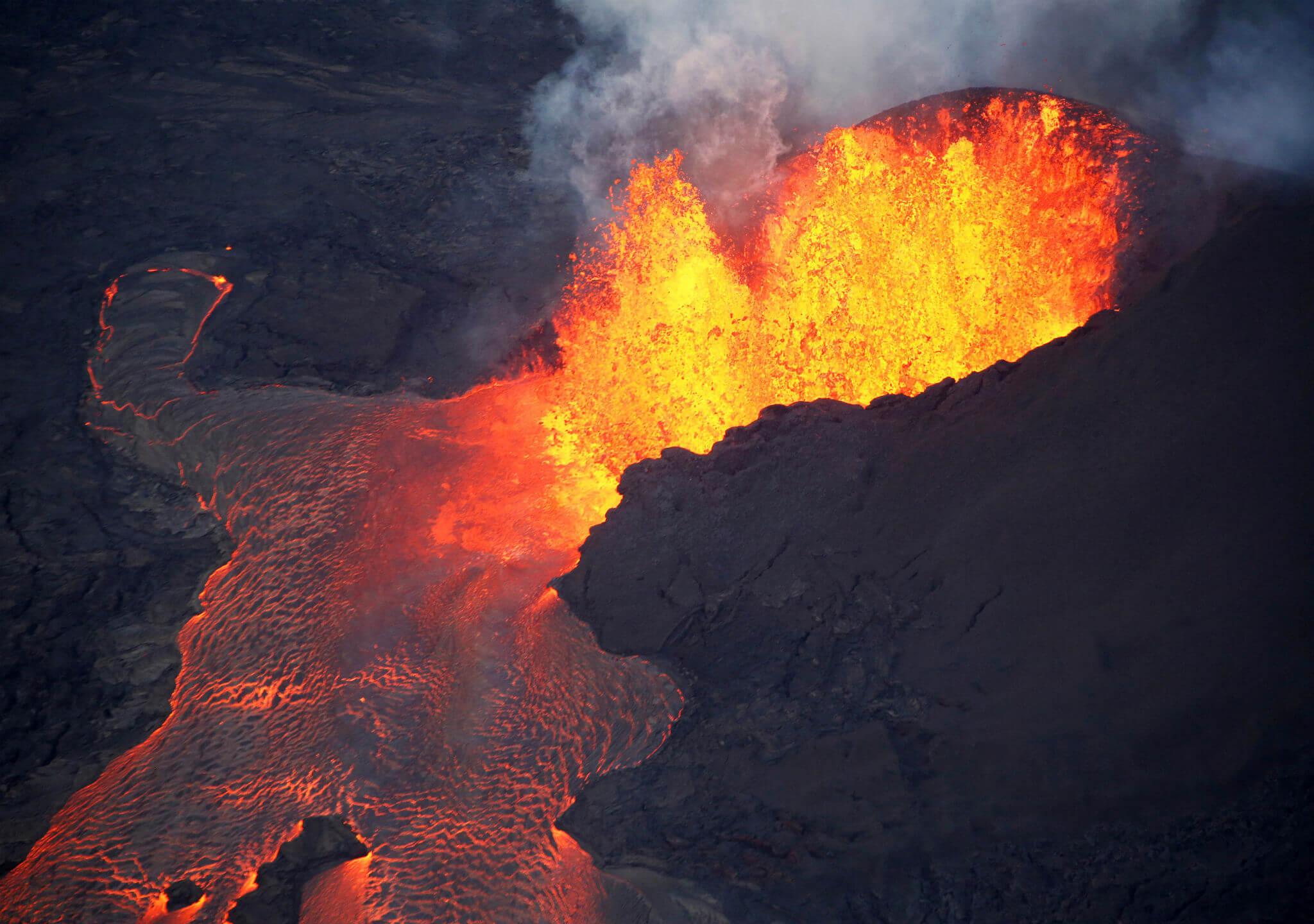 Mira el volcán de cerca